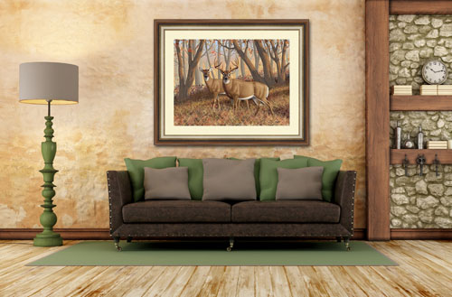 whitetail deer painting.