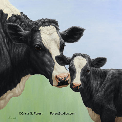 Holstein Cow & Calf