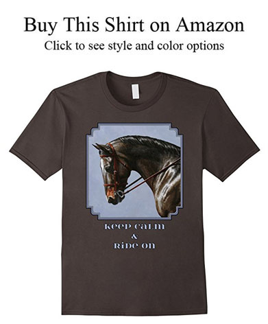 Bay warmblood sport horse shirts