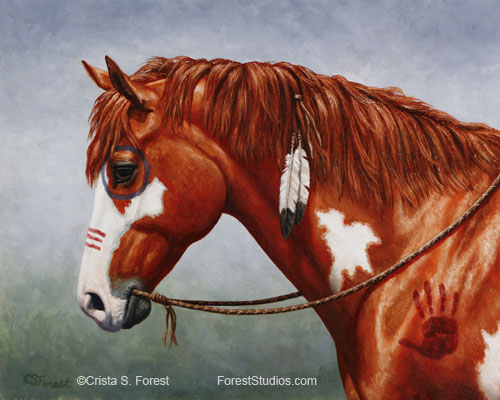 Indian Pony horse painting