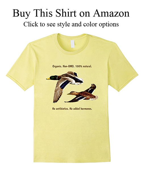 T-shirt gifts for duck hunters.