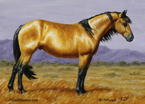 Mustang horse painting - photo#10